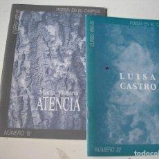 Libros de segunda mano: POESIA EN EL CAMPUS. MARIA VICTORIA ATENCIA .- LUISA CASTRO.- UNIV. DE ZARAGOZA CURSOO 1991-1993. Lote 163453574