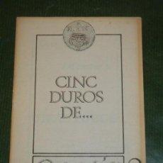 Libros de segunda mano: CINC DUROS DE ... POESIA?, DE SALVADOR VIDAL ABELLO - 1980. Lote 163587410