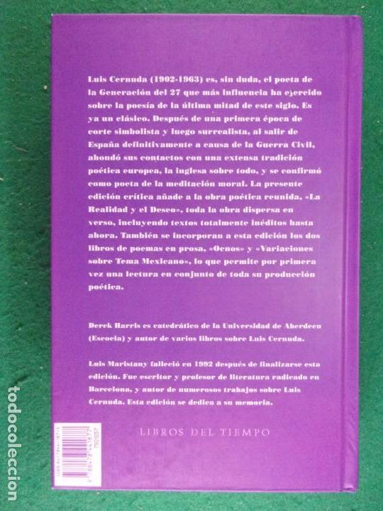 Libros de segunda mano: POESÍA COMPLETA. Vol-1 / Luis Cernuda / 1993. Siruela - Foto 4 - 163743906