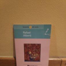 Libros de segunda mano: RAFAEL ALBERTI POEMAS ESCOGIDOS. Lote 164311354