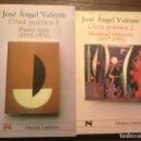 Libros de segunda mano: OBRA POÉTICA 1 Y 2. JOSÉ ÁNGEL VALENTE. ALIANZA LITERARIA 2001. Lote 164868784