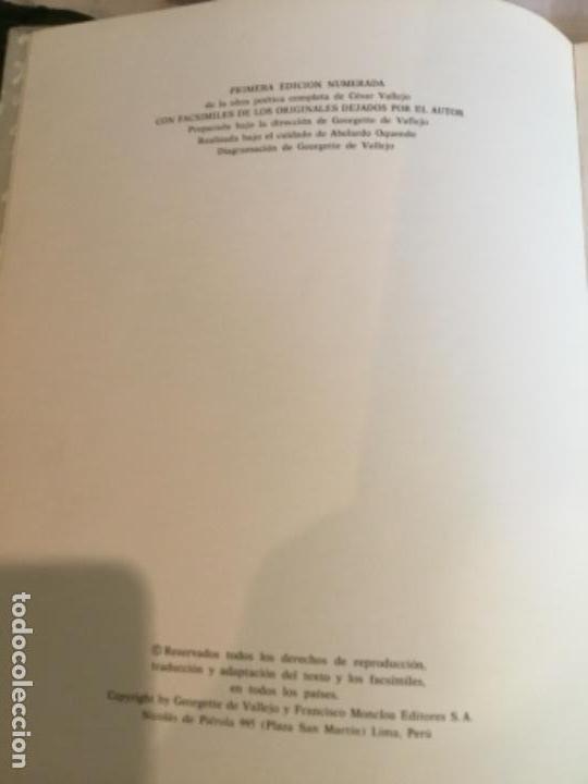 Libros de segunda mano: Vallejo obra poética completa edición numerada.Lima - Foto 2 - 164929606