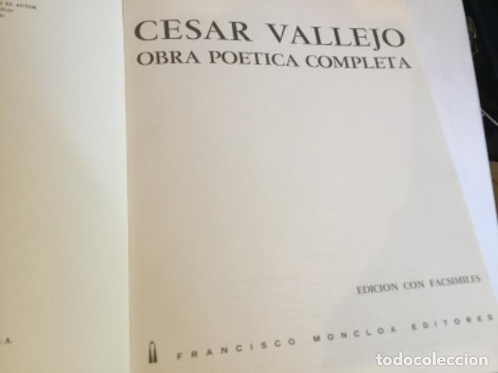 Libros de segunda mano: Vallejo obra poética completa edición numerada.Lima - Foto 9 - 164929606