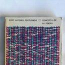 Libros de segunda mano: CONCEPTO DE LA POESÍA JOSÉ ANTONIO PORTUONDO. Lote 165143066