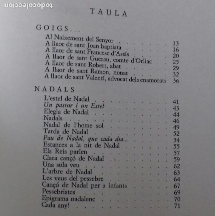 Libros de segunda mano: GOIGS I NADALS. GUERAU MUTGÉ. BARCELONA 1972. DEDICADO POR EL AUTOR. - Foto 5 - 166183902