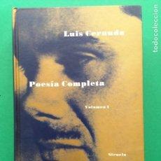 Libros de segunda mano: POESÍA COMPLETA LUIS CERNUDA VOLUMEN I 1999 SIRUELA 3ª EDICIÓN. Lote 167477752