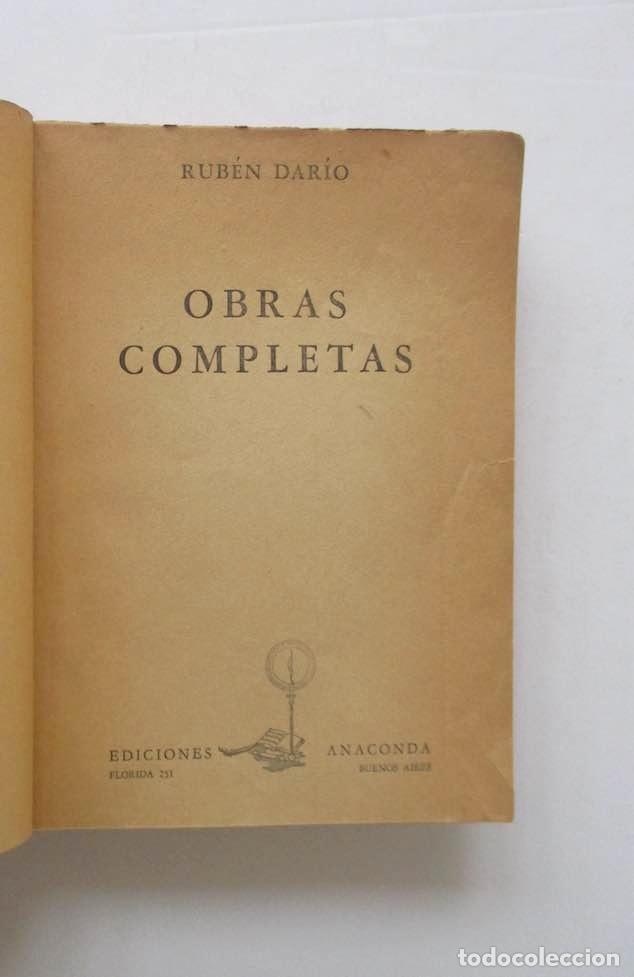 Libros de segunda mano: OBRAS COMPLETAS - RUBEN DARIO - Foto 2 - 167776212