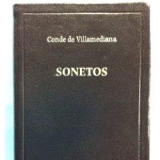 Libros de segunda mano: SONETOS - CONDE DE VILLAMEDIANA - 2003. Lote 167838792
