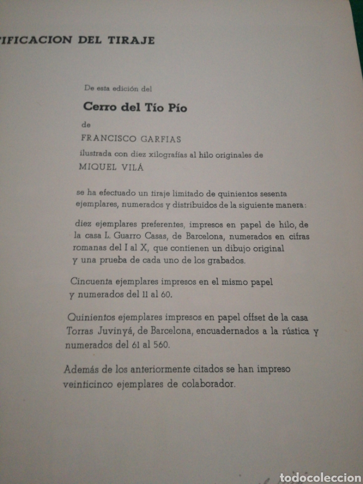 Libros de segunda mano: F.GARFIAS CERRO DEL TIO PIO - Foto 7 - 168284518