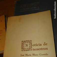 Libros de segunda mano: ALBACETE.NOTICIA DE NOSOTROS, JOSÉ MARÍA BLANC GARRIDO, AÑO 1975, DIBUJOS BENJAMÍN PALENCIA. Lote 168447576