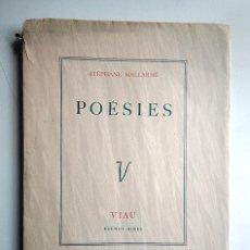 Libros de segunda mano: STÉPHANE MALLARMÉ · POÉSIES – ILLUSTRATIONS DE HÉCTOR BASALDÚA - VIAU, BUENOS AIRES, 1944. Lote 168495652