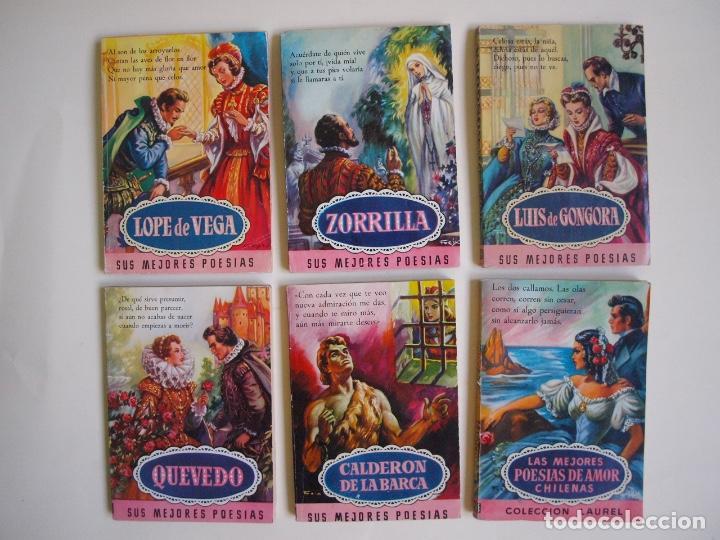 6 LIBROS DE LA COLECCIÓN LAUREL Nº 7, 9, 11, 14, 25 Y 32, SUS MEJORES POESÍAS - BRUGUERA 1955-1961 (Libros de Segunda Mano (posteriores a 1936) - Literatura - Poesía)