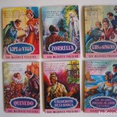 Libros de segunda mano: 6 LIBROS DE LA COLECCIÓN LAUREL Nº 7, 9, 11, 14, 25 Y 32, SUS MEJORES POESÍAS - BRUGUERA 1955-1961. Lote 169222300