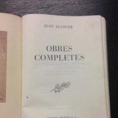 Libros de segunda mano: OBRES COMPLETES JOAN ALCOVER, FERRA, MIQUEL I PONS I MARQUES, JOAN, 1951. Lote 169435224