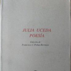 Libros de segunda mano: JULIA UCEDA - POESIA - FRANCISCO J. PEÑAS BERMEJO - COLECCIÓN ESQUIO POESIA 44. Lote 170073882