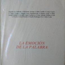 Libros de segunda mano: LA EMOCION DE LA PALABRA - ATXAGA - RODRIGUEZ FER - E. DE ANDRADE - COLEC ESQUIO POESIA 33 - GALEGO. Lote 170073890