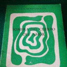 Libros de segunda mano: CUDERNO DE POESIA DE J.A.ESCALONA. Lote 170211500
