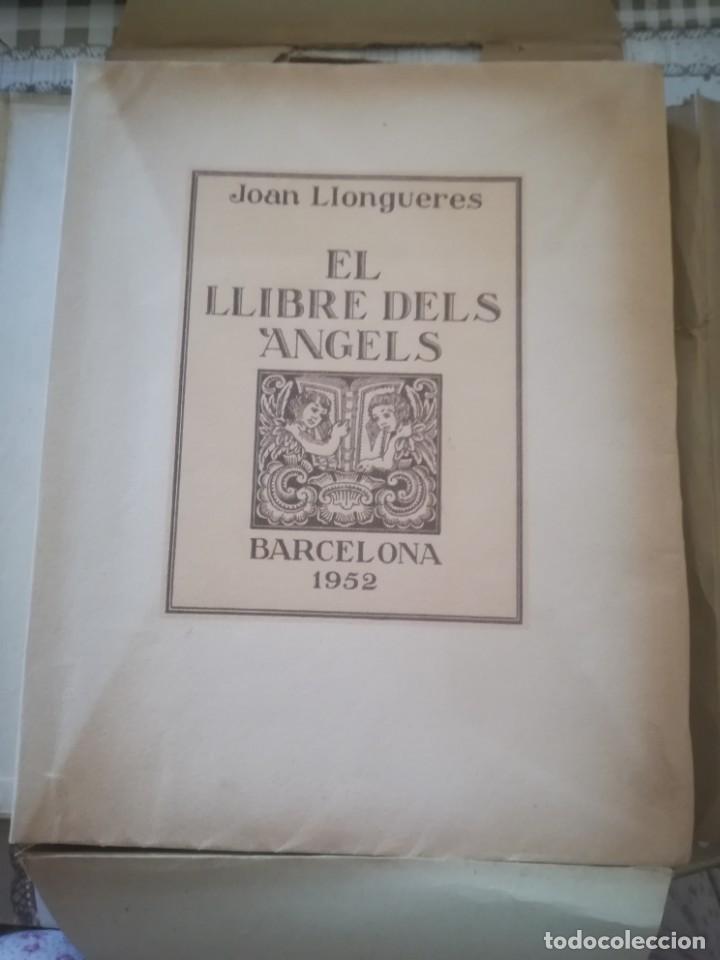 EL LLIBRE DELS ÀNGELS - JOAN LLONGUERES - 1952 (Libros de Segunda Mano (posteriores a 1936) - Literatura - Poesía)