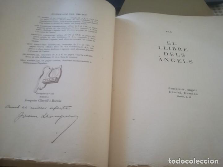 Libros de segunda mano: El llibre dels àngels - Joan Llongueres - 1952 - Foto 5 - 170293460