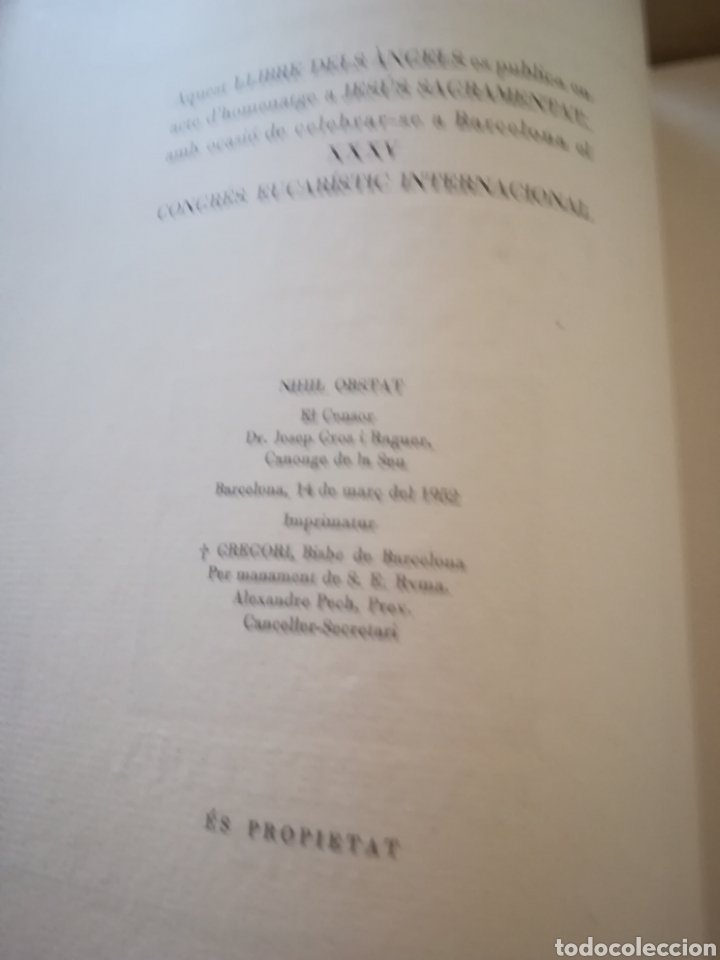 Libros de segunda mano: El llibre dels àngels - Joan Llongueres - 1952 - Foto 17 - 170293460