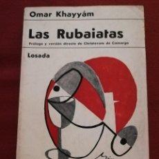 Libros de segunda mano: LAS RUBAIATAS (OMAR KHAYYÁM) EDITORIAL LOSADA. Lote 171502215