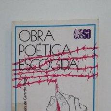 Libros de segunda mano: OBRA POÉTICA ESCOGIDA. LEÓN FELIPE. SELECCIONES AUSTRAL ESPASA CALPE. TDK397. Lote 171909107