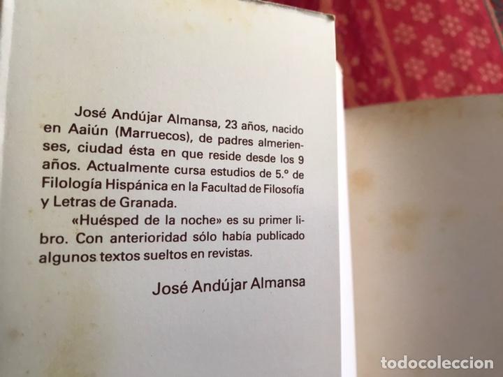 Libros de segunda mano: Huésped de la noche. José Andújar Almansa. Difícil - Foto 3 - 171969087