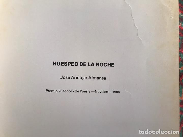 Libros de segunda mano: Huésped de la noche. José Andújar Almansa. Difícil - Foto 4 - 171969087