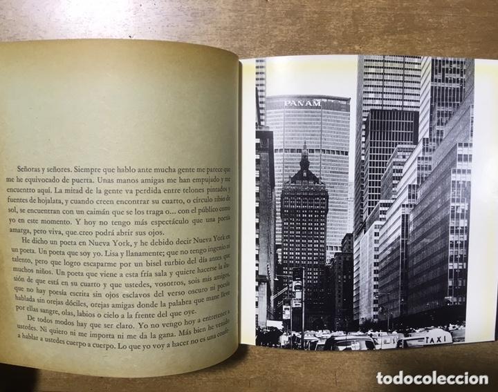 Libros de segunda mano: POETA EN NUEVA YORK - LORCA - FOTOGRAFIAS MASPONS UBIÑA - LUMEN PALABRA E IMAGEN - 1966 - Primera ed - Foto 3 - 172152289
