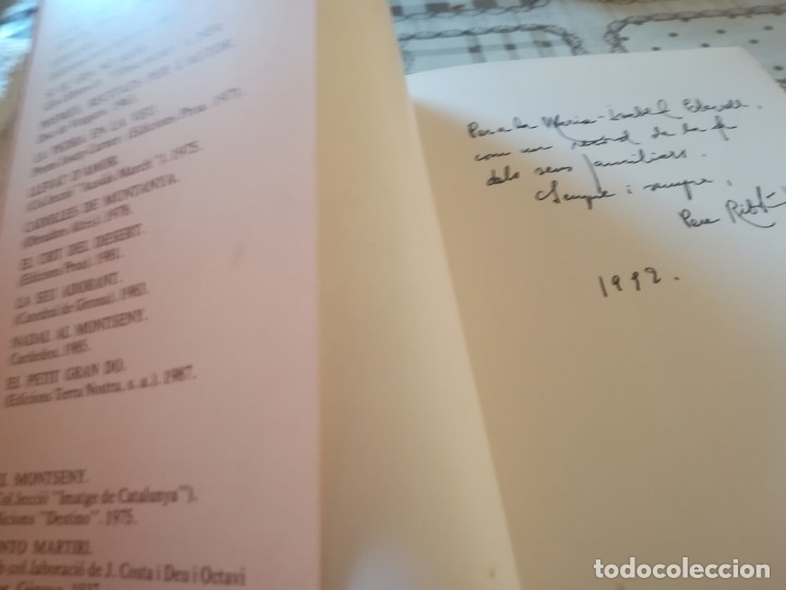 Libros de segunda mano: A mitja veu - Pere Ribot - Ejemplar dedicado y firmado por el autor al anterior propietario. - Foto 3 - 172177185