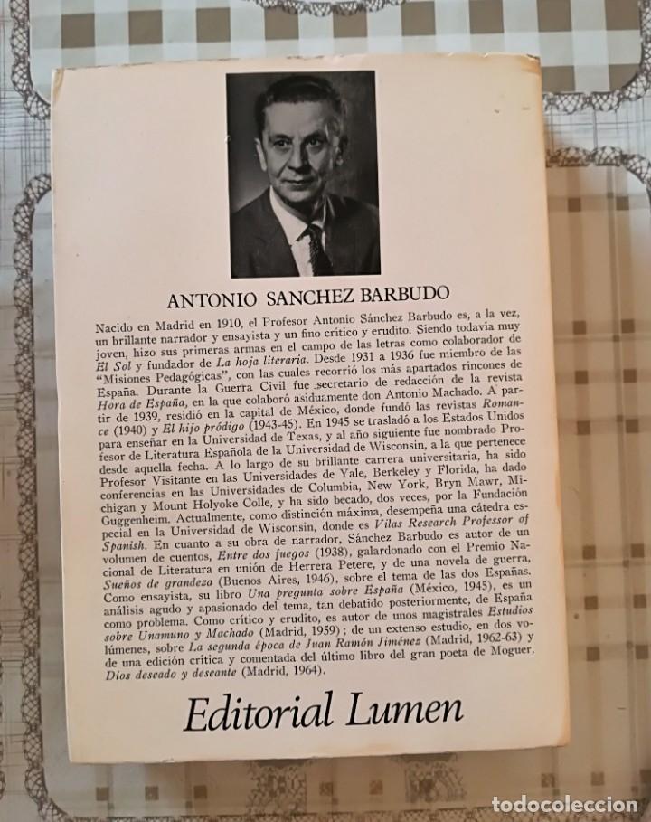 Libros de segunda mano: Los poemas de Antonio Machado. Los temas, el sentimiento y la expresión - Antonio S. Barbudo - Foto 2 - 172790198