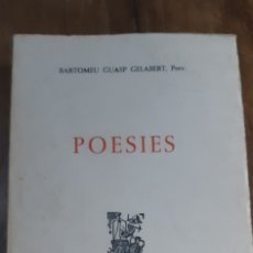Libros de segunda mano: POESIES.BARTOMEU GUASP GELABERT, PREV. CIUTAT DE MALLORCA 1972. Lote 173025418
