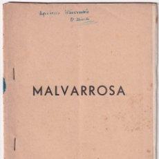 Libros de segunda mano: MALVARROSA. Nº 20. VALENCIA, 1956. EDICIÓN DE 50 EJS. MECANOGRAFIADA. RARA. Lote 173057294