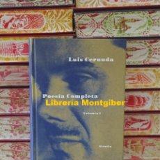 Libros de segunda mano: POESÍA COMPLETA . VOLUMEN I . AUTOR : CERNUDA, LUIS . Lote 174127679