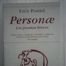 Libros de segunda mano: EZRA POUND - PERSONAE. LOS POEMAS BREVES - EDICIONES HIPERIÓN. Lote 194359248
