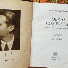 Libros de segunda mano: FEDERICO GARCIA LORCA.OBRAS COMPLETAS,AGUILAR, 1957.. Lote 175404948