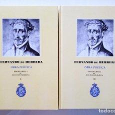 Livres d'occasion: FERNANDO DE HERRERA / OBRA POÉTICA / EDICIÓN CRÍTICA JOSE MANUEL BLECUA / RAE 1975. Lote 175720888