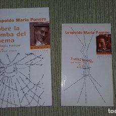 Libros de segunda mano: LEOPOLDO MARIA PANERO, LOTE DE DOS LIBROS, PRUEBA DE VIDA Y SOBRE LA TUMBA DEL POEMA. Lote 175943917