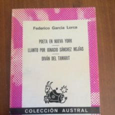 Libros de segunda mano: POETA EN NUEVA YORK. FEDERICO GARCÍA LORCA.. Lote 176177497