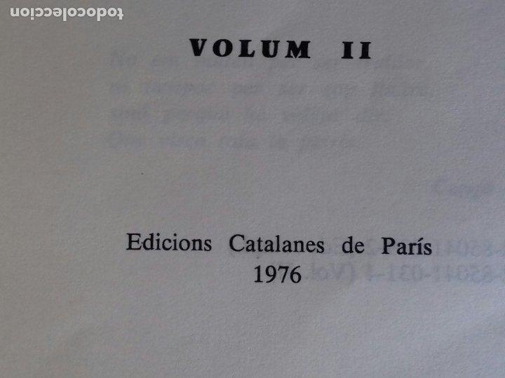 Libros de segunda mano: ANTOLOGIA DE LA POESIA PATRIOTICA CATALANA. EMILI SEGUÉS. 2 VOLS. EDICIONS CATALANS DE PARIS 1976. - Foto 4 - 176222548