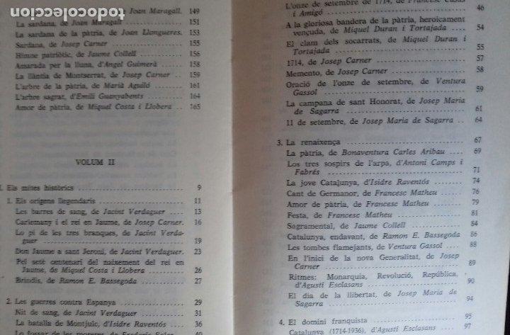 Libros de segunda mano: ANTOLOGIA DE LA POESIA PATRIOTICA CATALANA. EMILI SEGUÉS. 2 VOLS. EDICIONS CATALANS DE PARIS 1976. - Foto 9 - 176222548