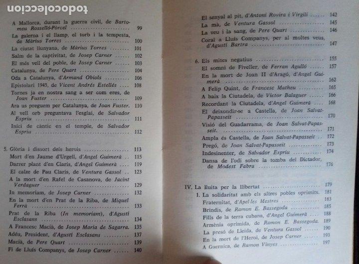 Libros de segunda mano: ANTOLOGIA DE LA POESIA PATRIOTICA CATALANA. EMILI SEGUÉS. 2 VOLS. EDICIONS CATALANS DE PARIS 1976. - Foto 10 - 176222548