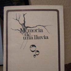 Libros de segunda mano: MEMORIA DE UNA LLUVIA VVAA. Lote 176601707