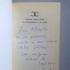 Libros de segunda mano: VICENTE ALEIXANDRE // ESPADAS COMO LABIOS. LA DESTRUCCIÓN O EL AMOR // DEDICATORIA JOSE LUIS CANO. Lote 176773745