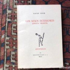Libros de segunda mano: LOS SITIOS INTERIORES (SONATA URGENTE). RAFAEL SOLER. ADONAIS. Lote 176795209