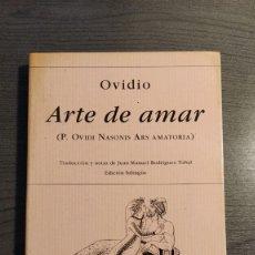 Libros de segunda mano: ARTE DE AMAR. OVIDIO. EDITORIAL HIPERION. EDICION BILINGÜE. . Lote 177066534