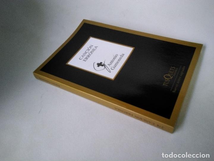 ANTONIO GAMONEDA. CANCIÓN ERRÓNEA. (Libros de Segunda Mano (posteriores a 1936) - Literatura - Poesía)