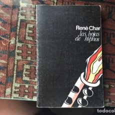 Libros de segunda mano: LAS HOJAS DE HIPNOS. RENÉ CHAR. Lote 178163857