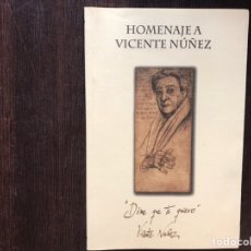 Libros de segunda mano: HOMENAJE A VICENTE NÚÑEZ. COMO NUEVO. Lote 178164640
