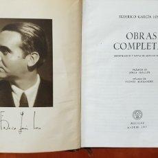 Libros de segunda mano: GARCIA LORCA AGUILAR.1957.OBRAS COMPLETAS.. Lote 178167211